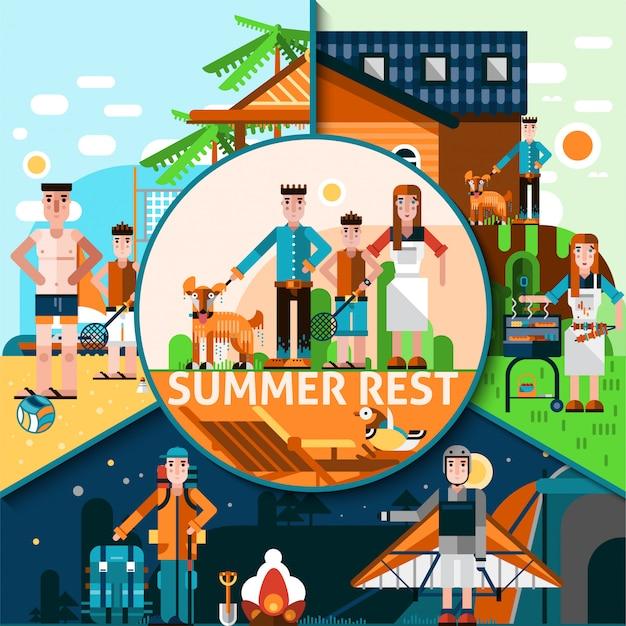 Sommer-rest-konzept