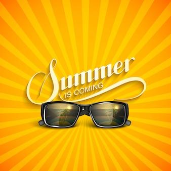 Sommer retro mit sonnenbrille