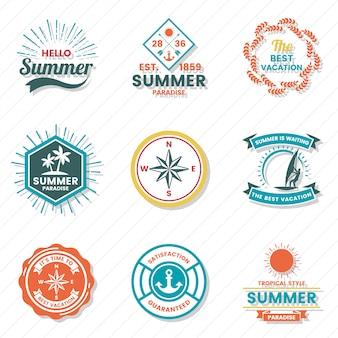 Sommer-retro-vektor-logo für banner
