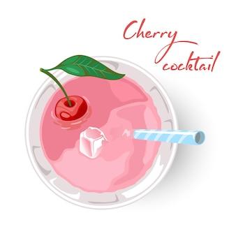 Sommer rosa beerengetränk für strand oder party