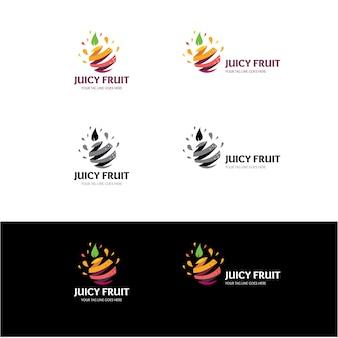 Sommer saftige frucht logo design-vorlage