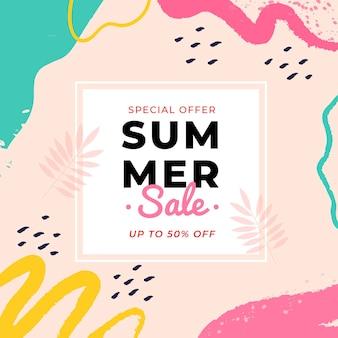 Sommer sale banner bunt abstrakt