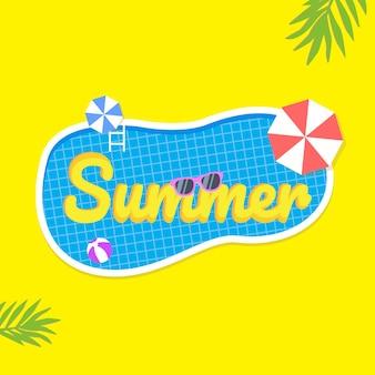 Sommer sale hintergrund layout für banner