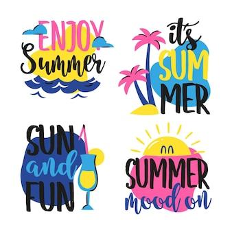 Sommer schriftzug abzeichen