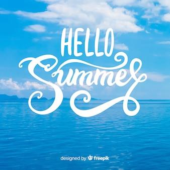 Sommer schriftzug hintergrund