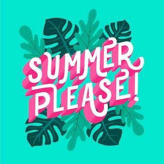 Sommer schriftzug konzept