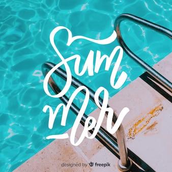 Sommer schriftzug mit foto