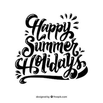 Sommer schriftzug mit schwarzer tinte