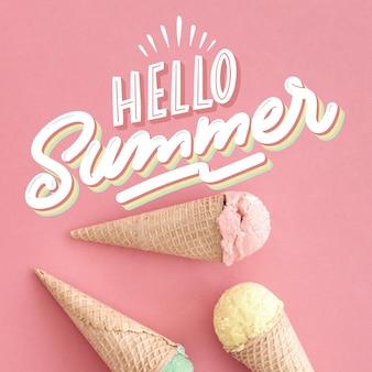 Sommer schriftzug nachricht