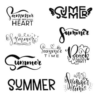 Sommer schriftzug