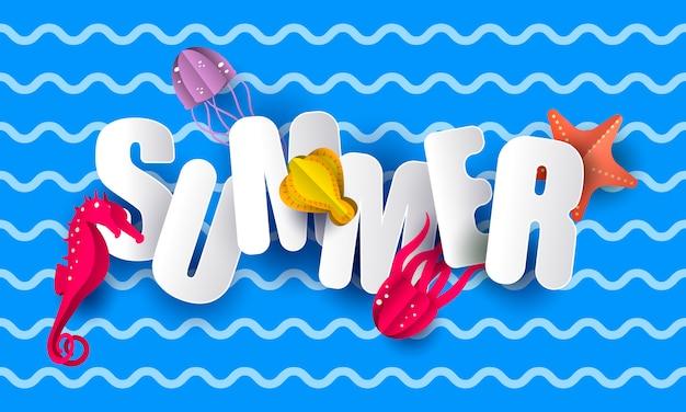 Sommer-schriftzug