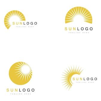 Sommer sonne logo vorlage vektor
