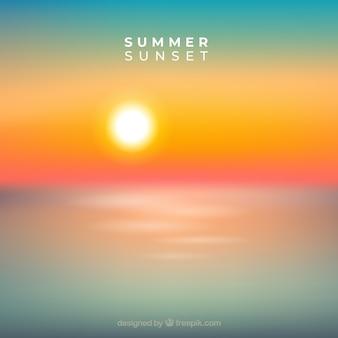 Sommer sonnenuntergang hintergrund