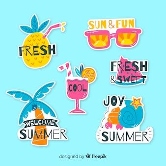 Sommer-sticker-kollektion
