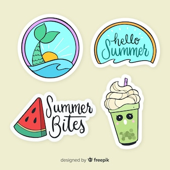 Sommer-sticker-kollektion