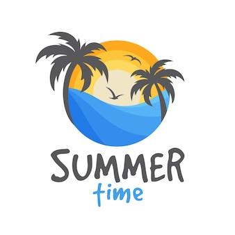 Sommer strand logo