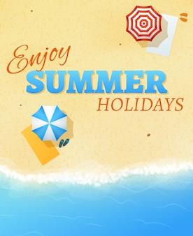 Sommer strand party banner flyer hintergrund vektor vorlage