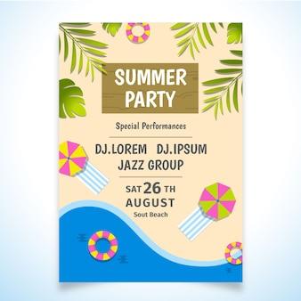 Sommer strand party poster design-vorlage