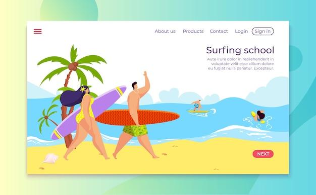 Sommer strandurlaub illustration