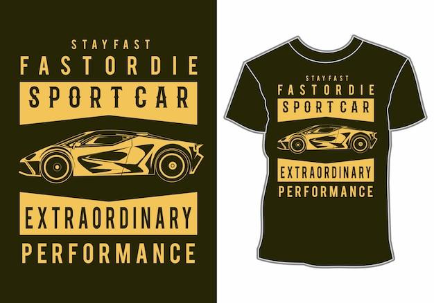 Sommer t-shirt design klassiker, vintage, retro auto im strand