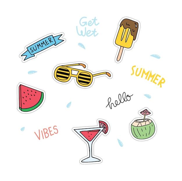 Sommer-themen-patches eingestellt