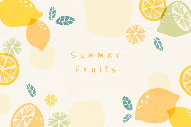 Sommer trägt hintergrund früchte