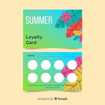 Sommer-treuekarte