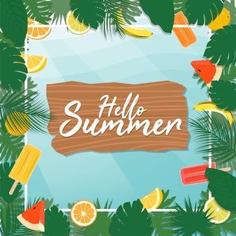 Sommer-tropische party-vektor