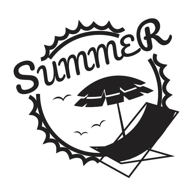 Sommer- und feiertagstypographieillustration