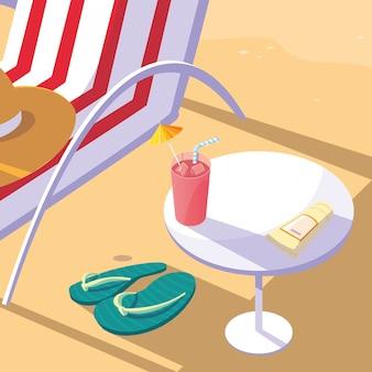 Sommer- und ferienikonensatz