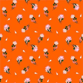 Sommer und frische freiheit von protea blüht nahtloses musterblumen und -anlagen.
