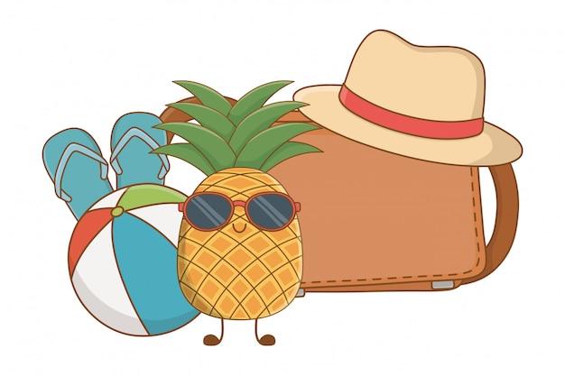 Sommer und früchte lustige cartoons