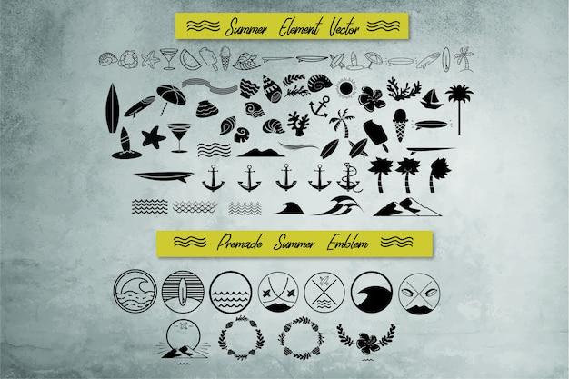 Sommer und nautisches element