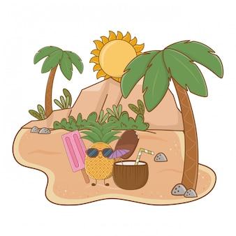 Sommer und strand niedlichen cartoons