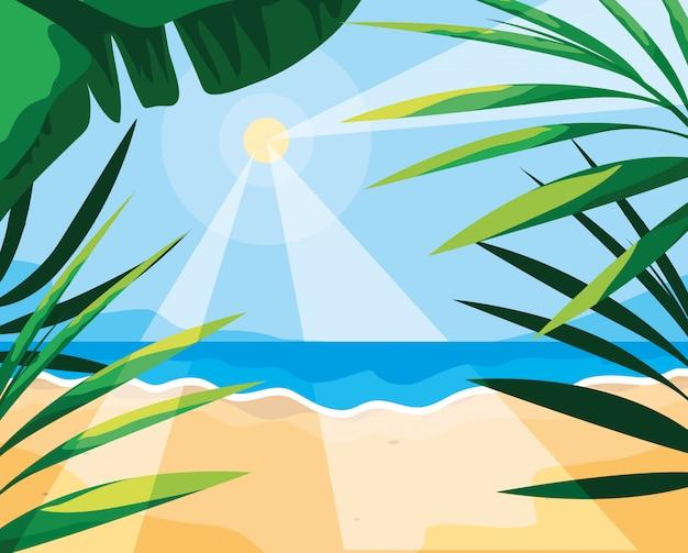Sommer und tropische blätter