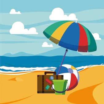 Sommer und urlaub