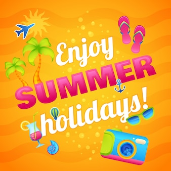 Sommer urlaub poster