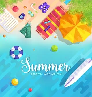 Sommer vecetion zeit hintergrund r illustration