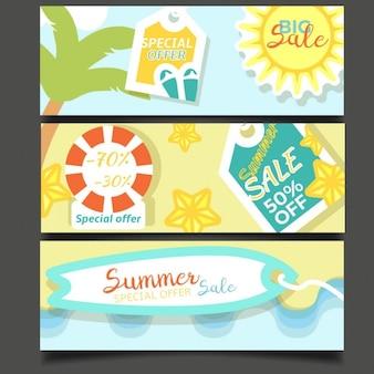 Sommer-verkauf-banner sammlung