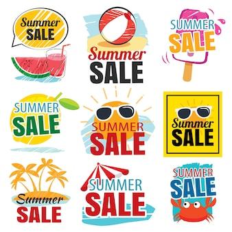 Sommer-verkauf-banner-set