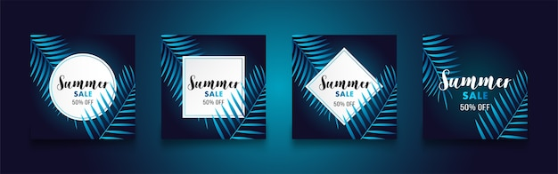 Sommer-verkauf-flyer-poster
