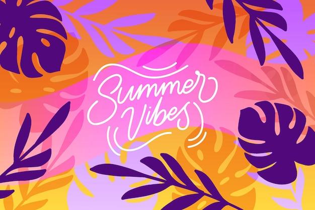 Sommer-vibes-hintergrund mit tropischer natur