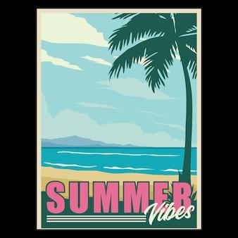 Sommer vibes retro poster