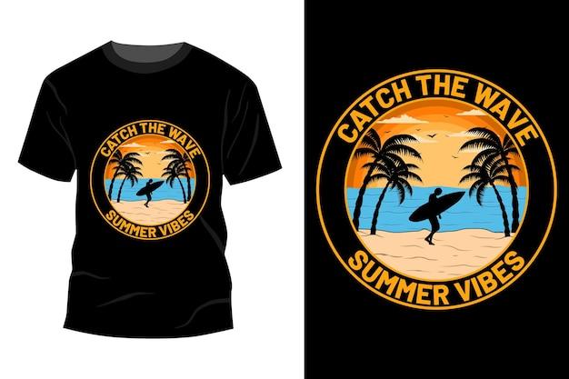 Sommer vibes t-shirt mockup design vintage retro