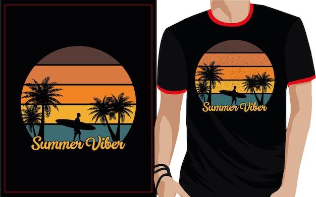 Sommer vibes typografie t-shirt design