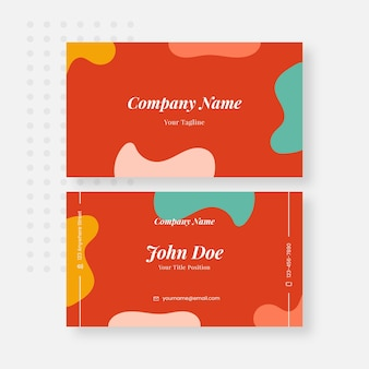 Sommer-visitenkarten-design-vorlage kostenlos