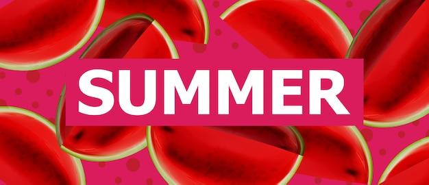 Sommer wassermelone