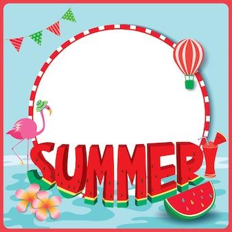 Sommer-wassermelonenrahmen
