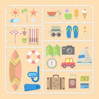 Sommer-werkzeuge-modell-kits