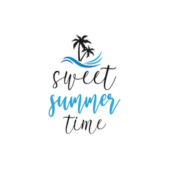 Sommer zitat schriftzug typografie